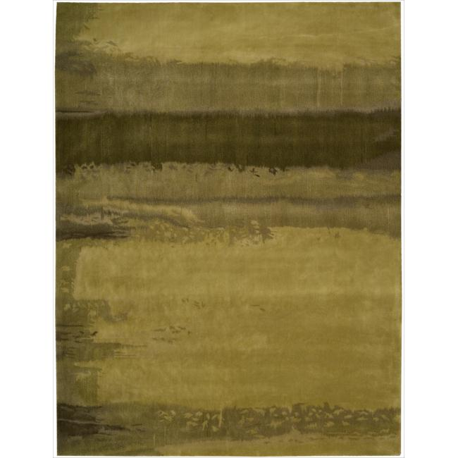 Nourison Home Hand-tufted Luster Wash Gold Rug (4' x 6')