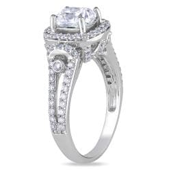 Miadora 14k White Gold 1 3/4ct TDW Certified Diamond Engagement Ring (I, VS1) - Thumbnail 1