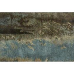 Nourison Home Hand-tufted Luster Wash Grey Rug (5'6 x 8') - Thumbnail 1