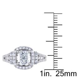 Miadora 14k White Gold 1 3/4ct TDW Certified Diamond Engagement Ring (I, VS1) - Thumbnail 2