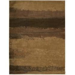 Nourison Home Hand-tufted Luster Wash Brown Rug (8'3 x 11')