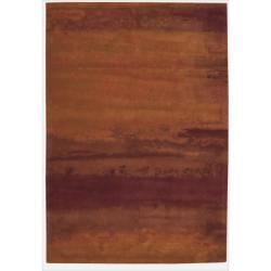 Nourison Home Hand-tufted Luster Wash Burgundy Rug (8'3 x 11')
