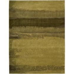 Nourison Home Hand-tufted Luster Wash Gold Rug (8'3 x 11')