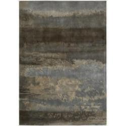 Nourison Home Hand-tufted Luster Wash Grey Rug (4' x 6')