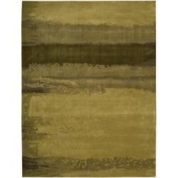 Nourison Home Hand-tufted Luster Wash Gold Rug (3' x 5')