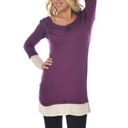 Lilac Clothing Women's Maternity Gabrielle Plum and Silver Top - Thumbnail 1