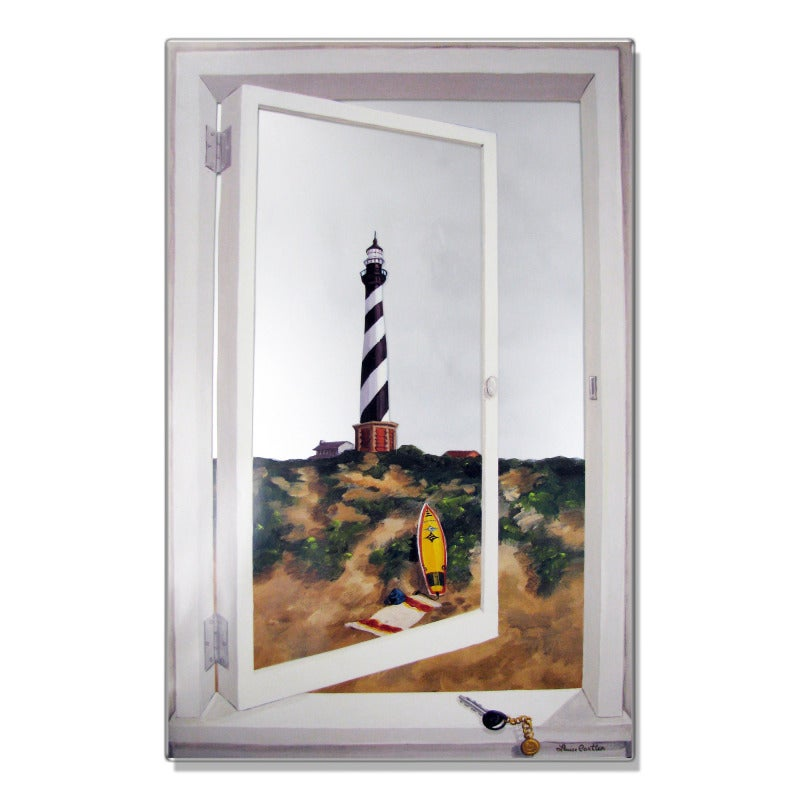 Faux Window Mirror Scene with Cape Hatteras Lighthouse