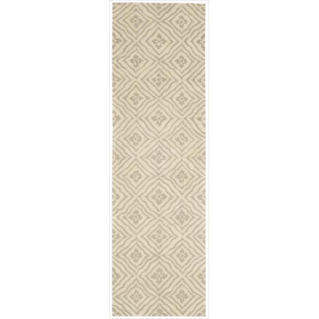 Nourison Home Naturals Hand tufted Beige Rug (2'3 x 8') - Thumbnail 0