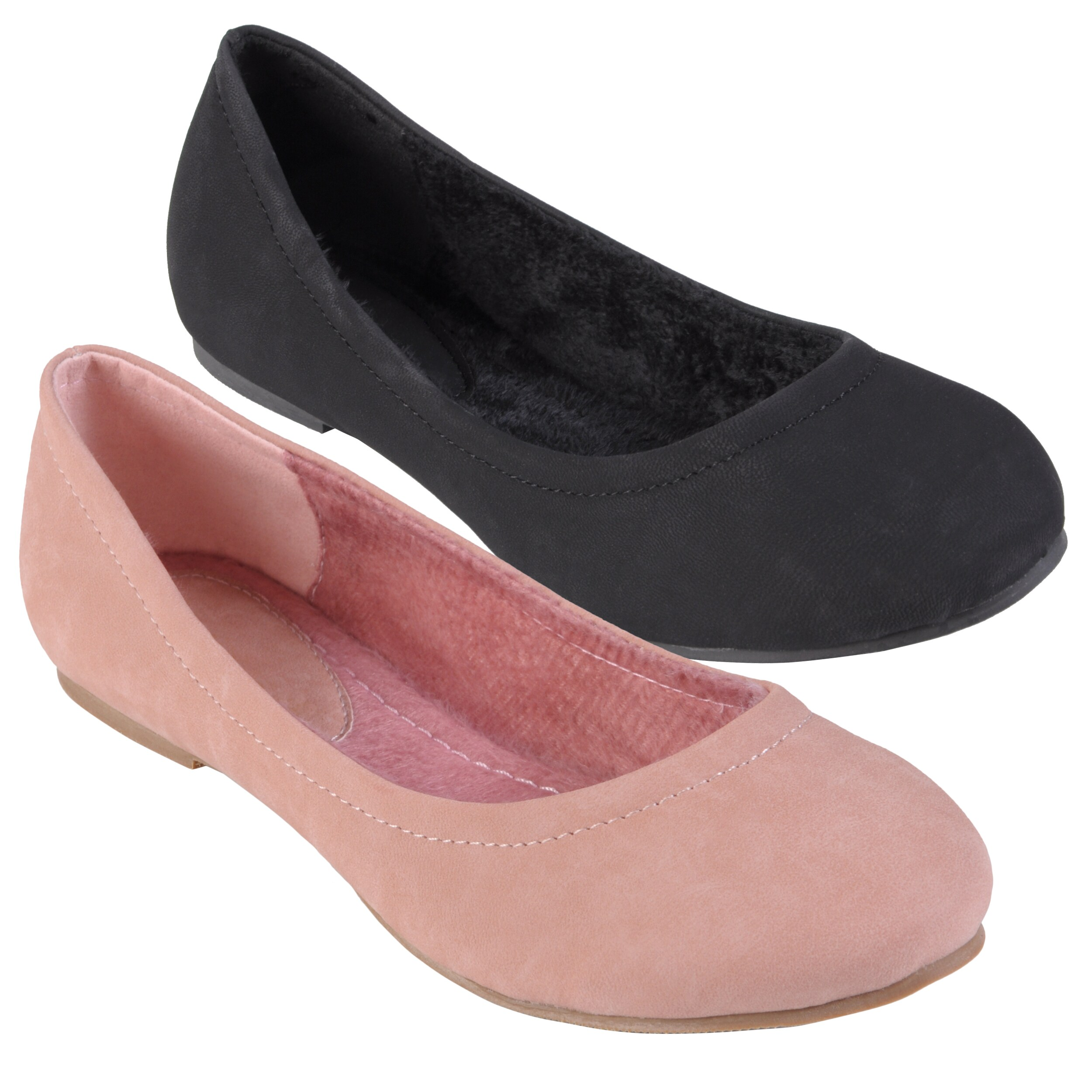Journee Collection Women's 'Eileen-10' Faux Leather Round Toe Flats