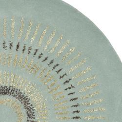 Safavieh Handmade Deco Explosions Light Blue/ Multi Wool Rug (8' Round)