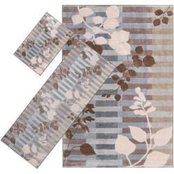 Woven Multicolored Tabluar 3-piece Rug Set