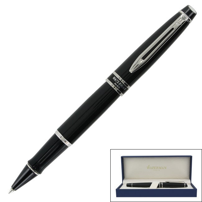 Waterman Expert Black Lacquer CT Rollerball Pen