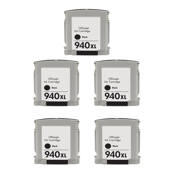 Hewlett Packard 940XL Black Ink Non-Refillable Cartridge Pack (Remanufactured)