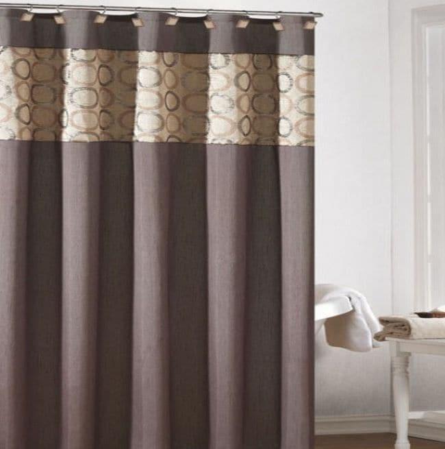 Shop Lorena Faux Silk Brown Shower Curtain