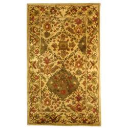 Safavieh Handmade Tabriz Beige/ Olive Wool Rug (4' x 6')