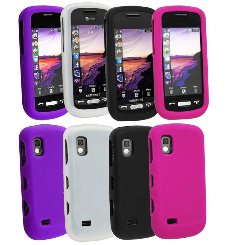 White/ Purple/ Black/ Hot Pink Skin Case for Samsung Solstice A887