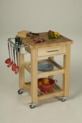 Chris & Chris 24x24-inch Natural Finish Pro Chef Kitchen Work Station