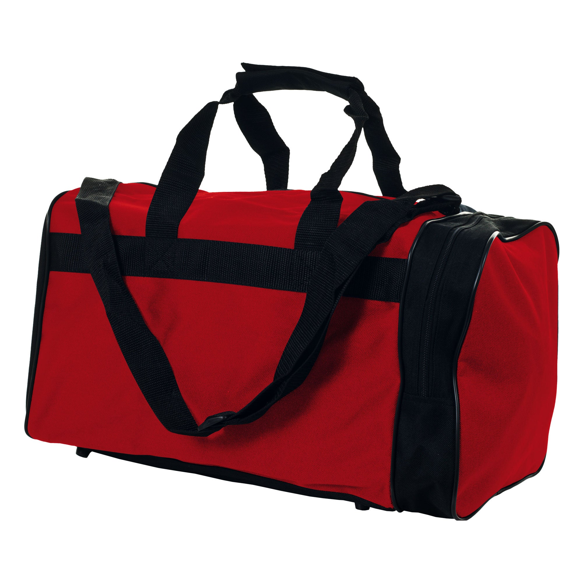 Toppers Travel Red Zippered 600-denier Polyester Sport Duffel Gym Bag
