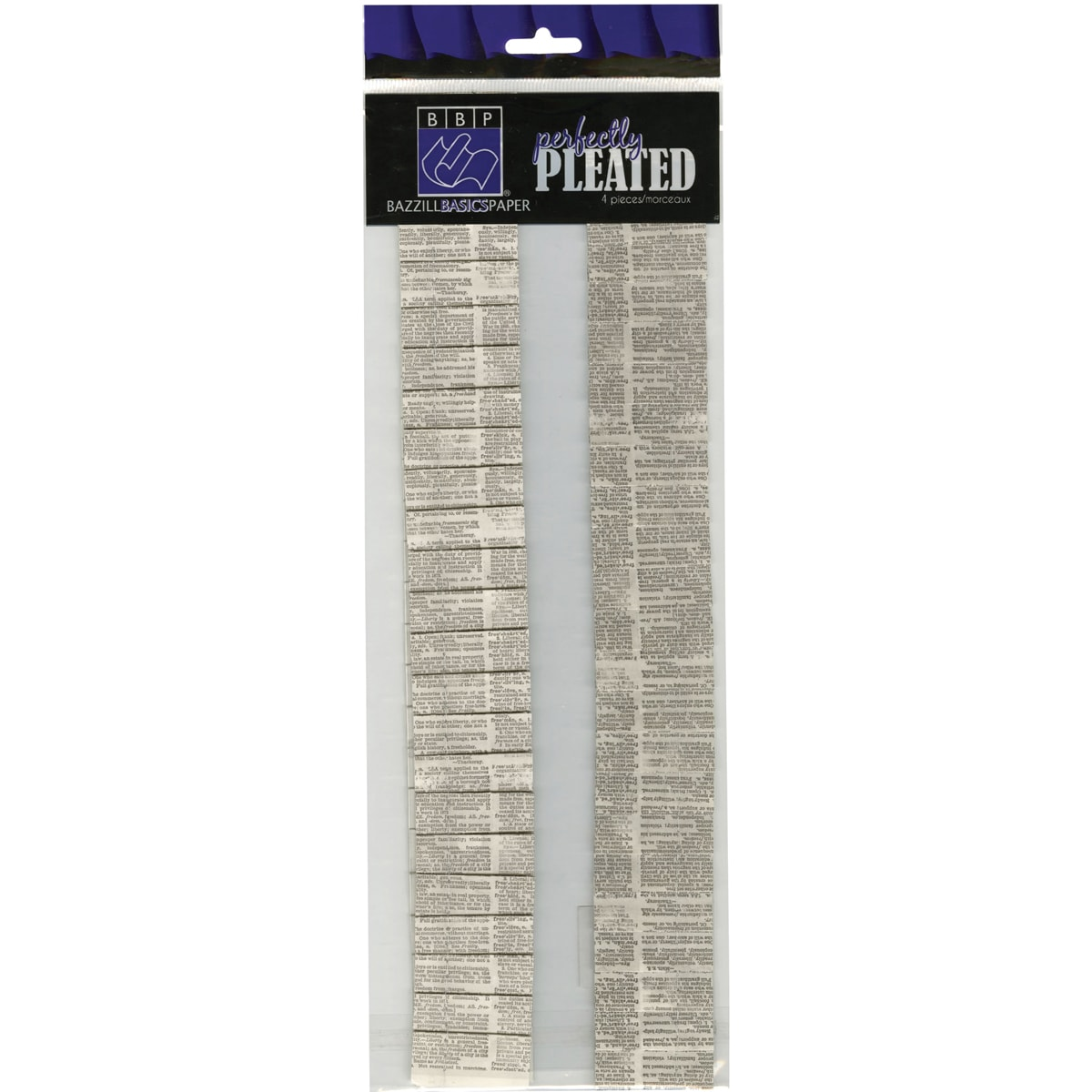 Perfectly Pleated Cardstock Strips 4/Pkg-Dictionary