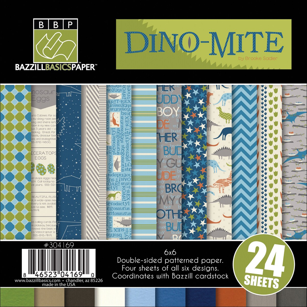 Dino-Mite Multi-Pack 6X6 inches