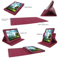 rooCASE Dual View Leather Case Cover for Asus Transformer Pad TF300 - Thumbnail 1