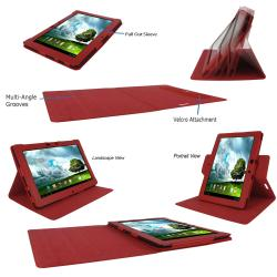 rooCASE Dual View Leather Case Cover for Asus Transformer Pad TF300 - Thumbnail 2