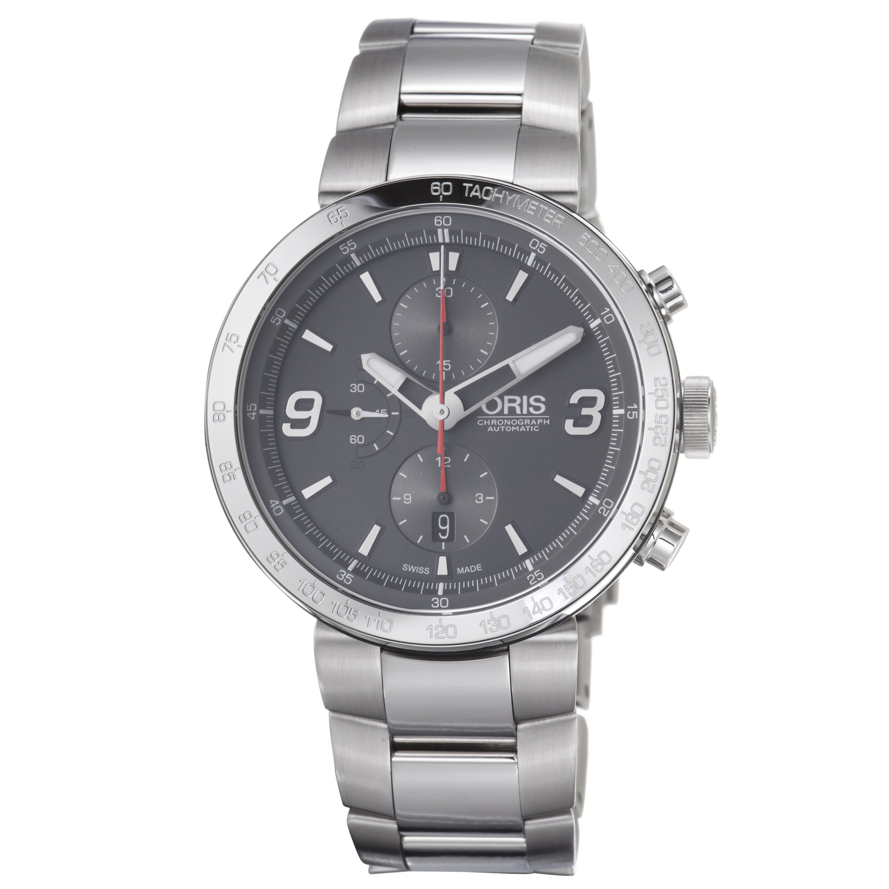 Oris Men's 'TT1 Chronograph' Grey Dial Stainless Steel Automatic Watch