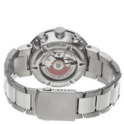Oris Men's 'TT1 Chronograph' Black Dial Stainless Steel Watch