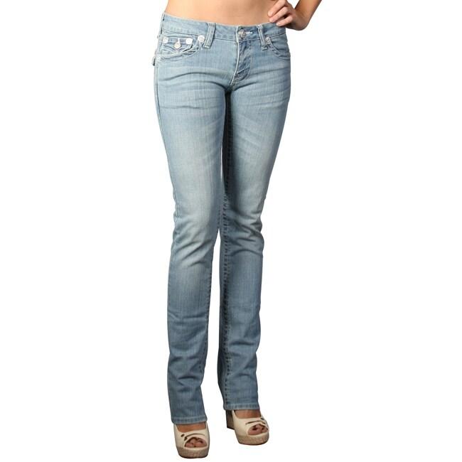 Laguna Beach Women's 'Hermosa Beach' Powder Blue Slim Fit Jeans
