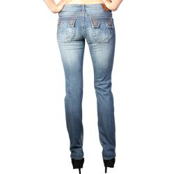 Laguna Beach Women's 'Hermosa Beach' Medium Blue Slim Fit Jeans - Thumbnail 1
