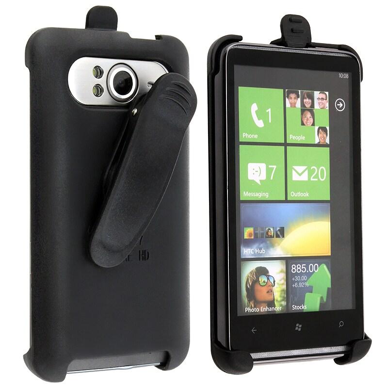 BasAcc Black Swivel Holster for HTC HD7/ HD3 T9292