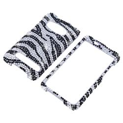 MYBAT Silver/ Black Zebra Diamond Snap-on Case for HTC EVO 4G - Thumbnail 1