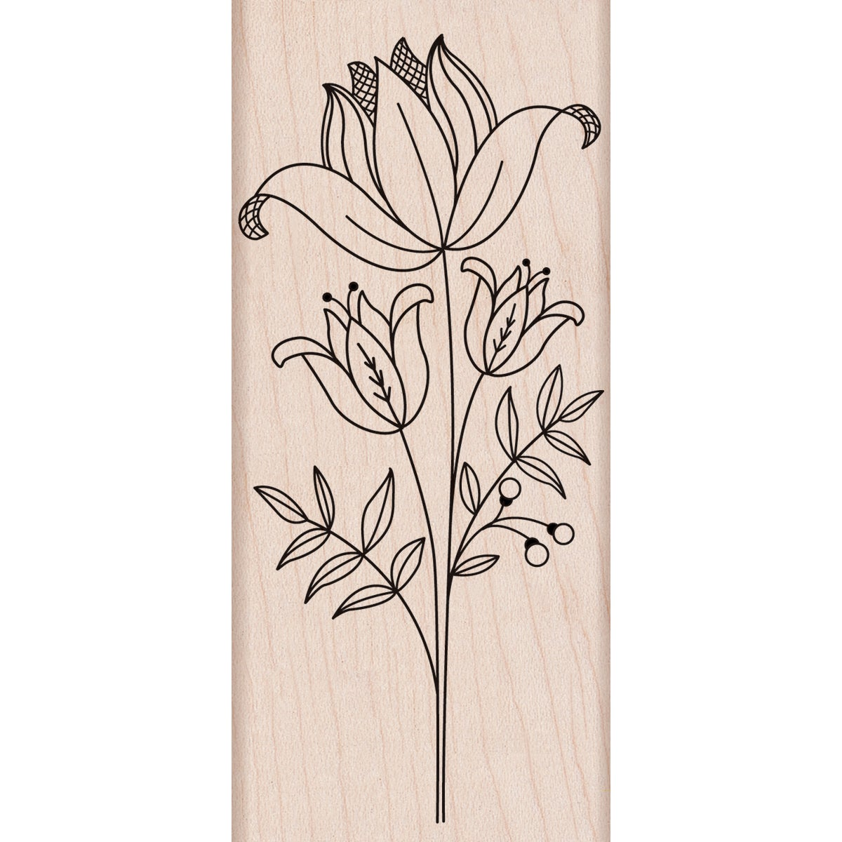 Hero Arts 'Tall Flower' Mounted Rubber Stamps