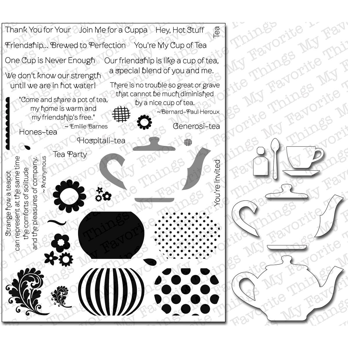 My Favorite Things Die-namics 'Always Time for Tea' Die and Stamp Set
