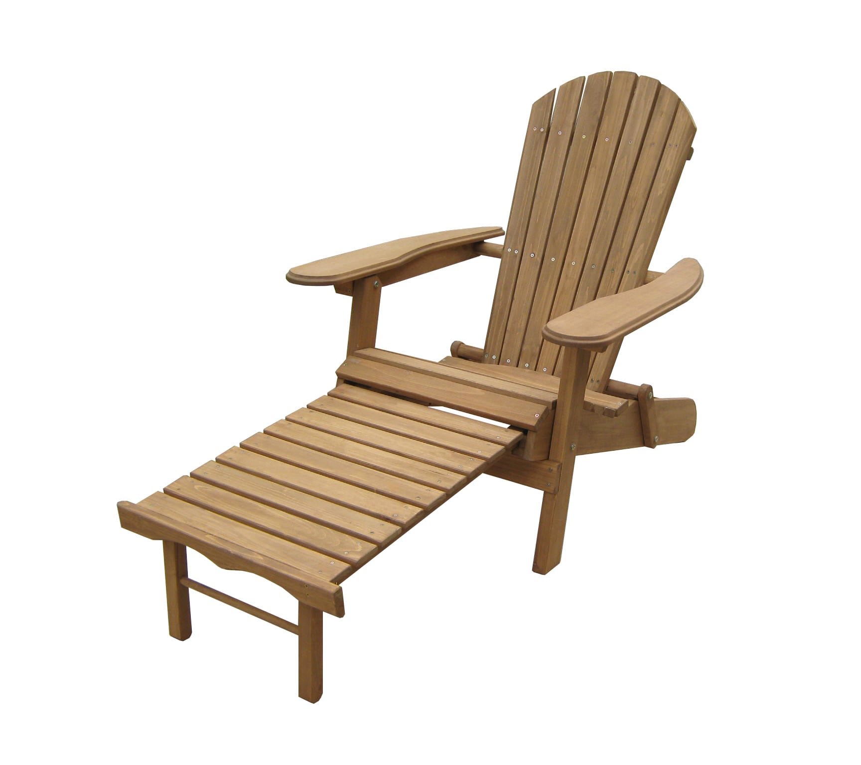 Merry Products Foldable Adirondack Chair with Pull Out Ottoman