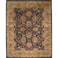 Safavieh Handmade Traditions Black/ Light Brown Wool Rug (9'6 x 13'6)