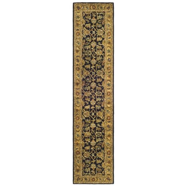 Safavieh Handmade Classic Black/ Gold Wool Runner (2'3 x 10')