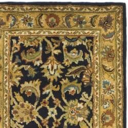 Safavieh Handmade Classic Black/ Gold Wool Runner (2'3 x 10') - Thumbnail 1