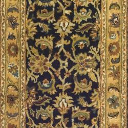 Safavieh Handmade Classic Black/ Gold Wool Runner (2'3 x 10') - Thumbnail 2