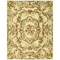 Safavieh Handmade Classic Ivory Wool Rug (9'6 x 13'6) - Thumbnail 0