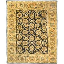 Safavieh Handmade Classic Black/ Gold Wool Rug (9'6 x 13'6)