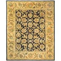 Safavieh Handmade Classic Black/ Gold Wool Rug - 9'6 x 13'6