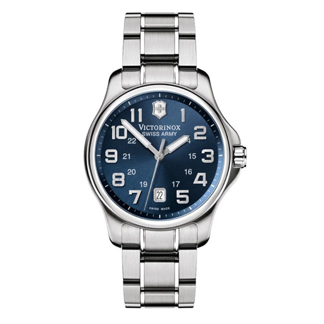 Victorinox Swiss Army Men's Officer's Blue Dial Watch