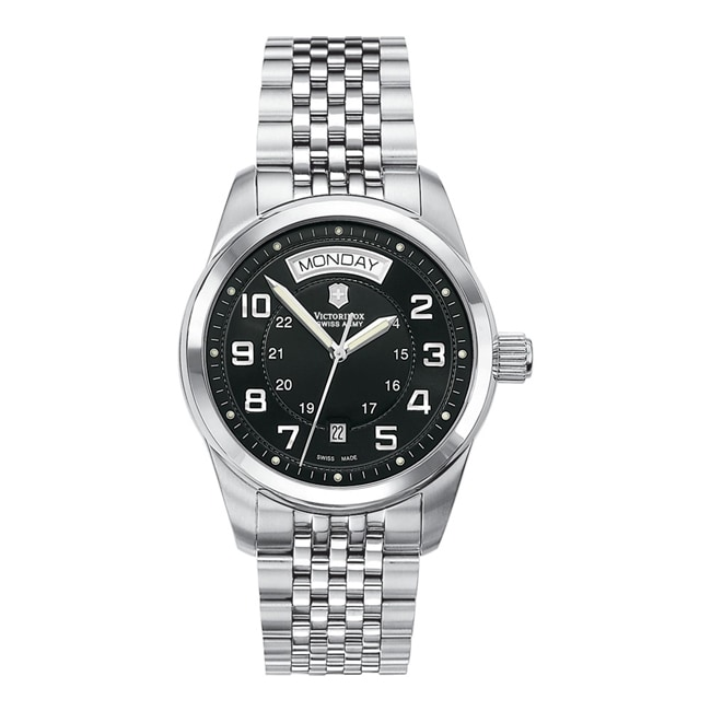 Victorinox Swiss Army Men's Ambassador Automatic Black Dial Watch - Thumbnail 0