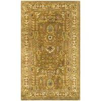 Safavieh Handmade Classic Gold/ Ivory Wool Rug (3' x 5')