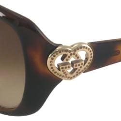 Gucci Women's GG3548 Oversize Rectangular Sunglasses - Thumbnail 2