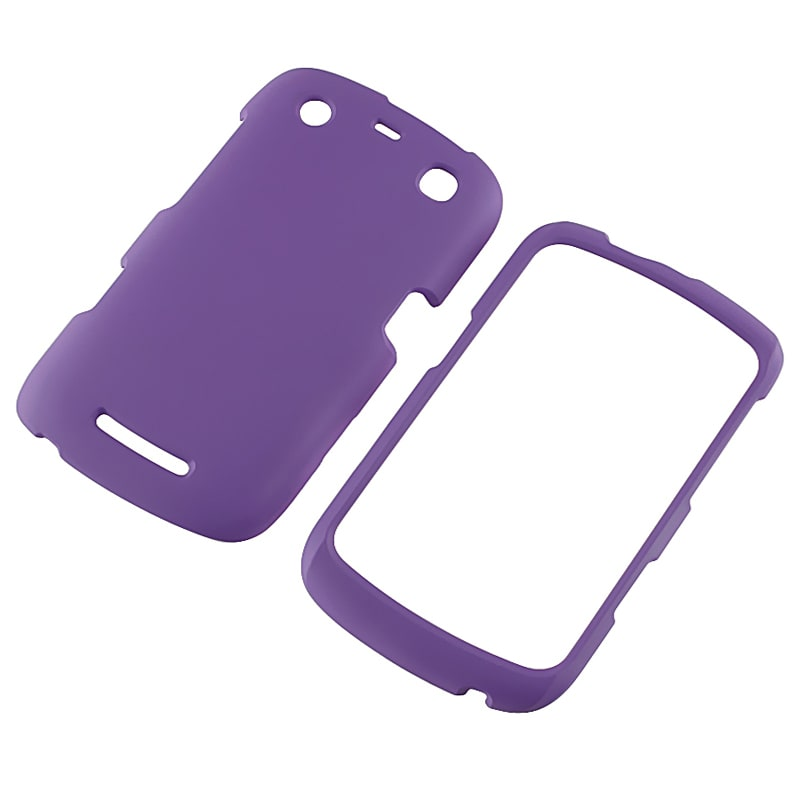 Purple Snap-on Rubber Coated Case for BlackBerry 9350/ 9360/ 9370
