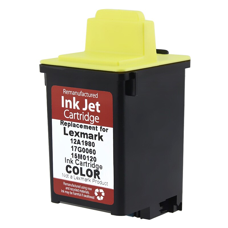 Lexmark 120/ 15M0120 Color Ink Cartridge (Remanufactured)