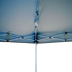 Trademark First-up Blue Gazebo Tent Canopy (10' x 10') - Thumbnail 1