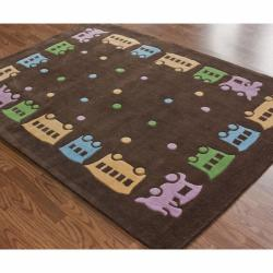 nuLOOM Handmade Deco Kids Train Rug (5' x 7')